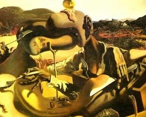 cannibalism in autumn - s. dali