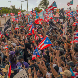 Protests in Puerto Rico in August of 2019