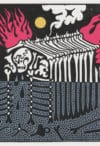Bonehouse - Linocut Print by Sophy Hollington