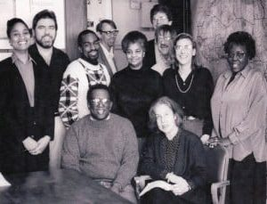 Staff of the American Committee on Africa,  1992; Jennifer Davis, front row, right