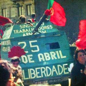 A demonstration in Oporto in April 25, 1983