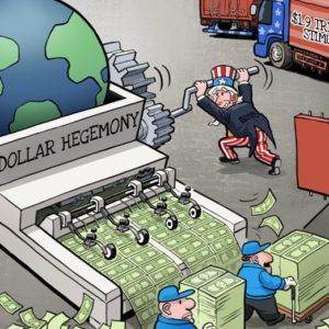 """Dollar hegemony"" by Luo Jie for China Daily"