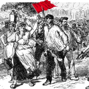 Illustration of the Paris Commune from Cassell's History of England