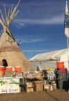 Medic tent at Oceti Sakowin camp Standing Rock during the Dakota Access Pipeline protests (November 26, 2016)