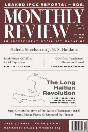 Monthly Review Volume 73, Number 5 (October 2021)