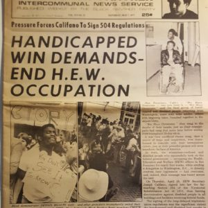 Handicapped Win Demands - End H.E.W. Occupation