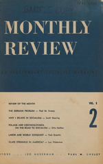 Monthly Review Volume 1, Number 2 (June 1949)