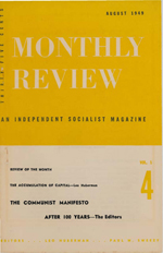 Monthly Review Volume 1, Number 4 (August 1949)