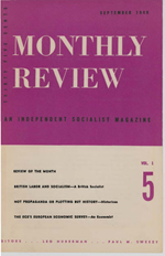 Monthly Review Volume 1, Number 5 (September 1949)