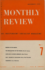Monthly Review Volume 1, Number 7 (November 1949)