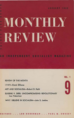 Monthly Review Volume 1, Number 9 (January 1950)