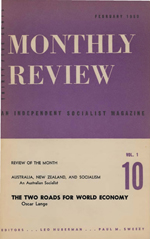 Monthly Review Volume 1, Number 10 (February 1950)