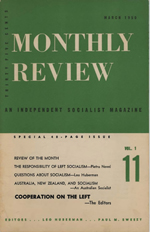 Monthly Review Volume 1, Number 11 (March 1950)