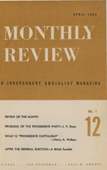 Monthly Review Volume 1, Number 12 (April 1950)