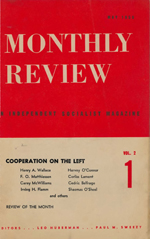 Monthly Review Volume 2, Number 1 (May 1950)