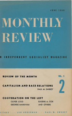Monthly Review Volume 2, Number 2 (June 1950)