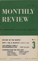 Monthly Review Volume 2, Number 3 (July 1950)