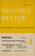 Monthly Review Volume 2, Number 4 (August 1950)