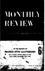 Monthly Review Volume 2, Number 6 (October 1950)