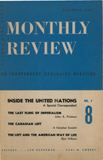 Monthly Review Volume 2, Number 8 (December 1950)