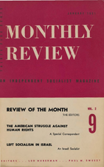 Monthly Review Volume 2, Number 9 (January 1951)