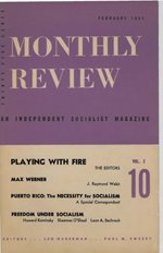 Monthly Review Volume 2, Number 10 (February 1951)