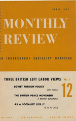 Monthly Review Volume 2, Number 12 (April 1951)