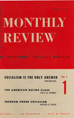 Monthly Review Volume 3, Number 1 (May 1951)