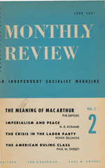 Monthly Review Volume 3, Number 2 (June 1951)