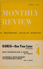 Monthly Review Volume 3, Number 4 (August 1951)