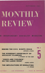 Monthly Review Volume 3, Number 5 (September 1951)