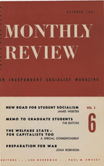 Monthly Review Volume 3, Number 6 (October 1951)