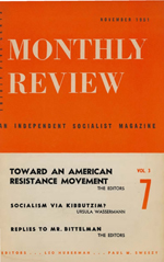 Monthly Review Volume 3, Number 7 (November 1951)