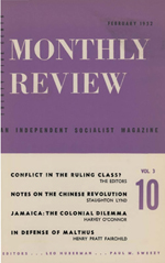 Monthly Review Volume 3, Number 10 (February 1952)