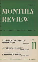 Monthly Review Volume 3, Number 11 (March 1952)