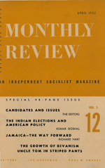 Monthly Review Volume 3, Number 12 (April 1952)