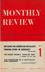 Monthly Review Volume 4, Number 1 (May 1952)