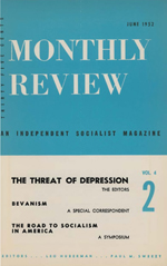 Monthly Review Volume 4, Number 2 (June 1952)
