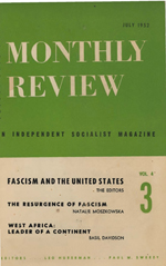 Monthly Review Volume 4, Number 3 (July 1952)
