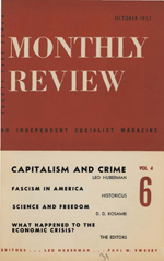 Monthly Review Volume 4, Number 6 (October 1952)