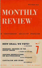 Monthly Review Volume 4, Number 7 (November 1952)