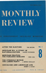 Monthly Review Volume 4, Number 8 (December 1952)