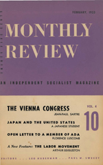 Monthly Review Volume 4, Number 10 (February 1953)