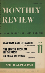 Monthly Review Volume 4, Number 11 (March 1953)