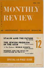 Monthly Review Volume 4, Number 12 (April 1953)