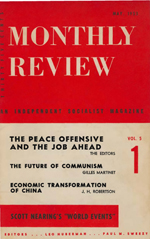 Monthly Review Volume 5, Number 1 (May 1953)