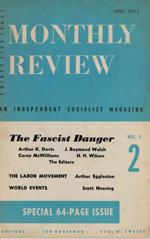 Monthly Review Volume 5, Number 2 (June 1953)