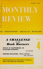 Monthly Review Volume 5, Number 4 (August 1953)