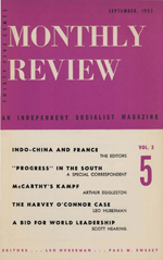 Monthly Review Volume 5, Number 5 (September 1953)
