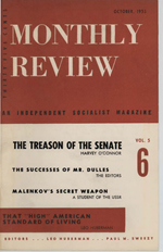 Monthly Review Volume 5, Number 6 (October 1953)